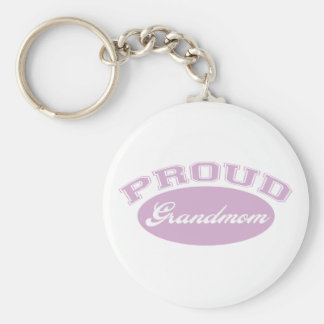 Proud Grandmom Keychain