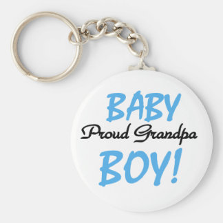 Proud Grandpa Baby Boy Tshirts and Gifts Keychain