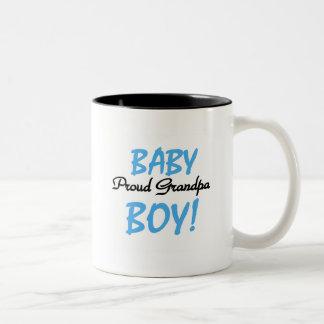 Proud Grandpa Baby Boy Tshirts and Gifts Two-Tone Coffee Mug
