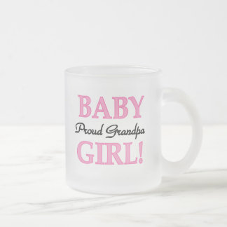 Proud Grandpa Baby Girl T-shirts and Gifts Frosted Glass Coffee Mug