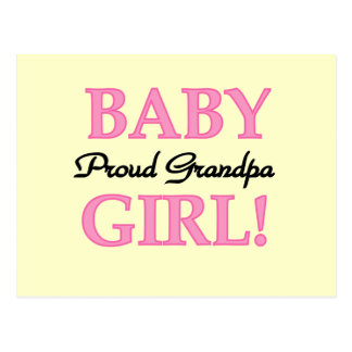 Proud Grandpa Baby Girl T-shirts and Gifts Postcard