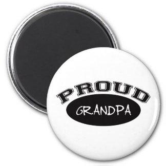 Proud Grandpa (Black) 2 Inch Round Magnet
