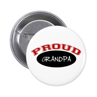 Proud Grandpa (Black and Red) Pinback Button