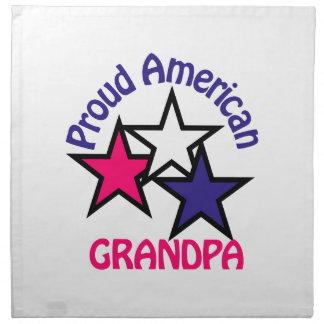 Proud Grandpa Cloth Napkin