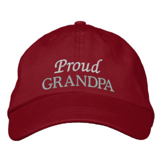 Proud Grandpa Embroidered Cap/Hat Embroidered Baseball Hat