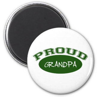 Proud Grandpa (Green) 2 Inch Round Magnet