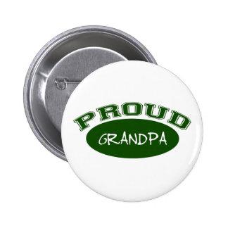 Proud Grandpa (Green) Pinback Button