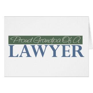 Proud Grandpa Of A Lawyer (Green) Card