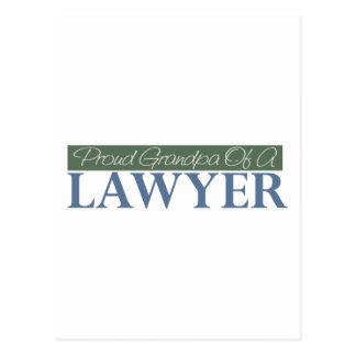 Proud Grandpa Of A Lawyer (Green) Postcard