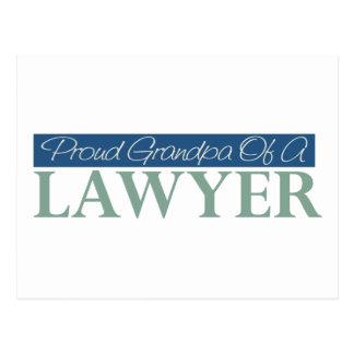 Proud Grandpa Of A Lawyer Postcard