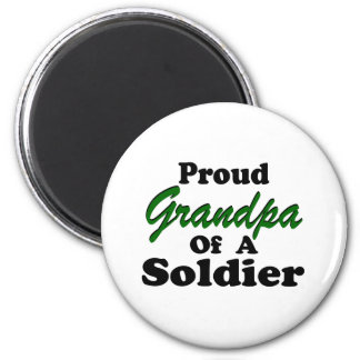 Proud Grandpa Of A Soldier 2 Inch Round Magnet