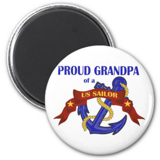 Proud Grandpa of a US Sailor 2 Inch Round Magnet