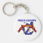 Proud Grandpa of a US Sailor Keychain