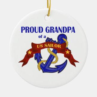 Proud Grandpa of a US Sailor Ornament