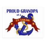 Proud Grandpa of a US Sailor Postcards