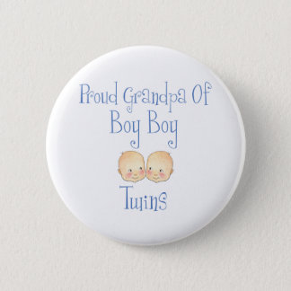 Proud Grandpa Of Boy Twins Pinback Button