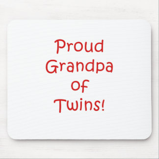 Proud Grandpa of Twins Mouse Pad