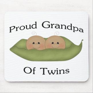 Proud Grandpa Of Twins Mouse Pad