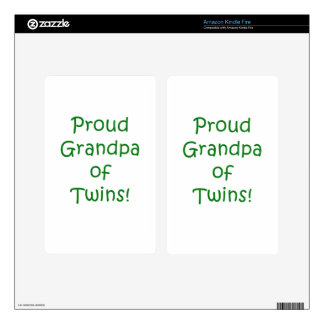 Proud Grandpa of Twins Skin For Kindle Fire