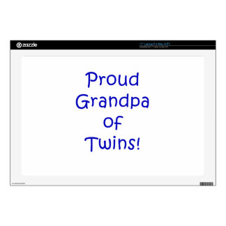 Proud Grandpa of Twins Skins For Laptops
