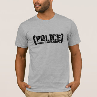 Proud Grandpa - POLICE Tattered T-Shirt
