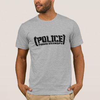 Proud Grandpa - POLICE Tattered T-Shirt