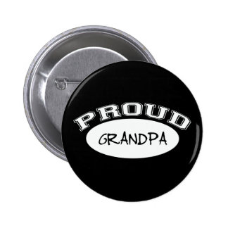 Proud Grandpa (White) Pinback Button