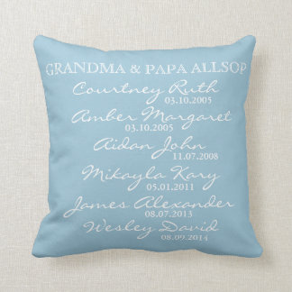 Proud Grandparent's Pillow