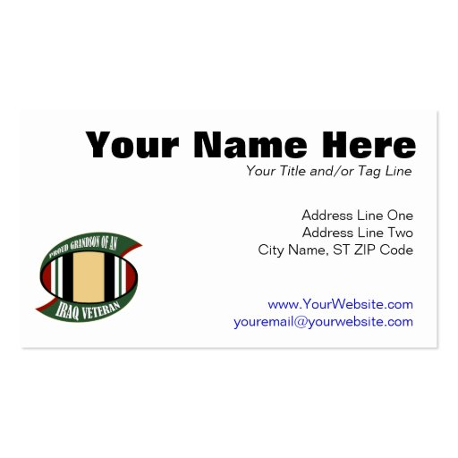 Proud Grandson Double-Sided Standard Business Cards (Pack Of 100)
