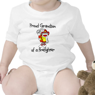 Proud Grandson of Firefighter Baby Creeper