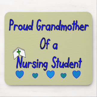 Proud Granmother Nursing Student Mouse Pad