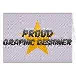 Proud Graphic Designer Greeting Card