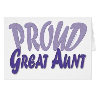 Proud Great Aunt Card