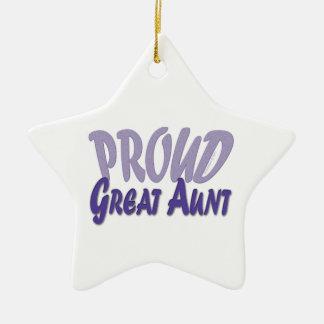 Proud Great Aunt Ceramic Ornament