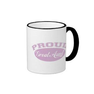 Proud Great Aunt Ringer Coffee Mug