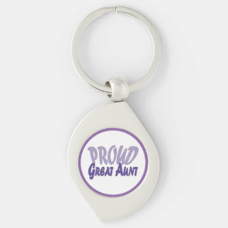 Proud Great Aunt - Pick Your Border Color Keychain