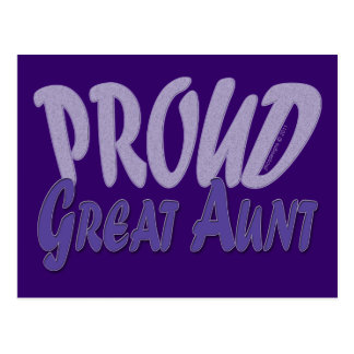 Proud Great Aunt Postcard