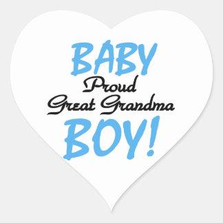 Proud Great Grandma Baby Boy Gifts Heart Sticker
