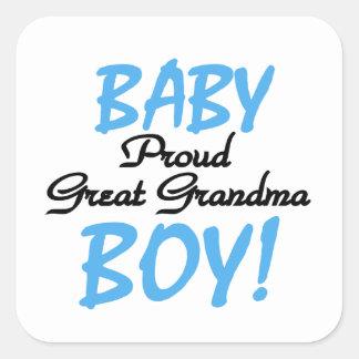Proud Great Grandma Baby Boy Gifts Square Sticker