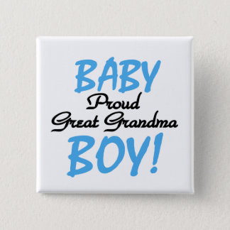 Proud Great Grandma Baby Boy Tshirts and Gifts Button