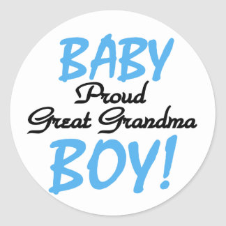 Proud Great Grandma Baby Boy Tshirts and Gifts Classic Round Sticker
