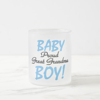 Proud Great Grandma Baby Boy Tshirts and Gifts Frosted Glass Coffee Mug