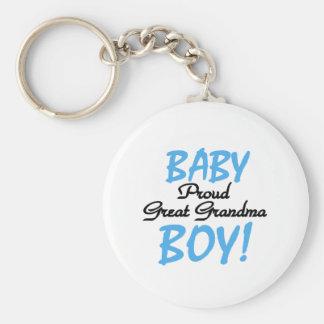 Proud Great Grandma Baby Boy Tshirts and Gifts Keychain