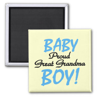 Proud Great Grandma Baby Boy Tshirts and Gifts Magnet