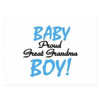 Proud Great Grandma Baby Boy Tshirts and Gifts Post Card