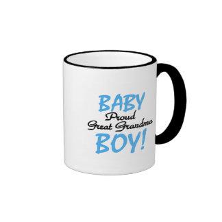Proud Great Grandma Baby Boy Tshirts and Gifts Ringer Mug