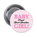Proud Great Grandma Baby Girl Tshirts and Gifts Buttons