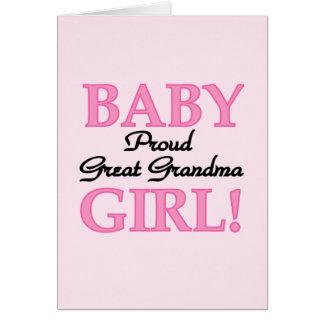Proud Great Grandma Baby Girl Tshirts and Gifts Card