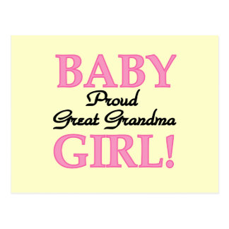 Proud Great Grandma Baby Girl Tshirts and Gifts Postcard
