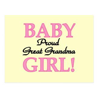 Proud Great Grandma Baby Girl Tshirts and Gifts Post Card